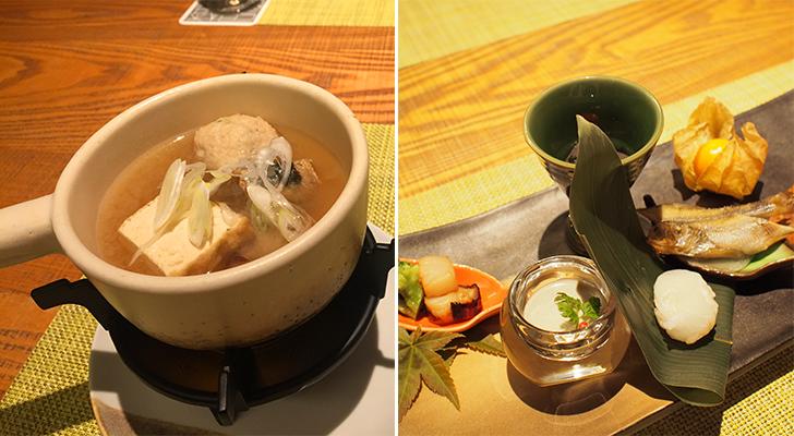 前菜と小鍋