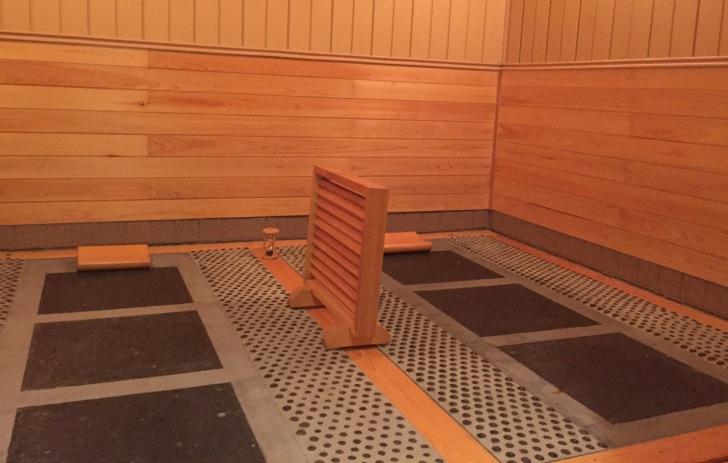 岩盤浴スペース