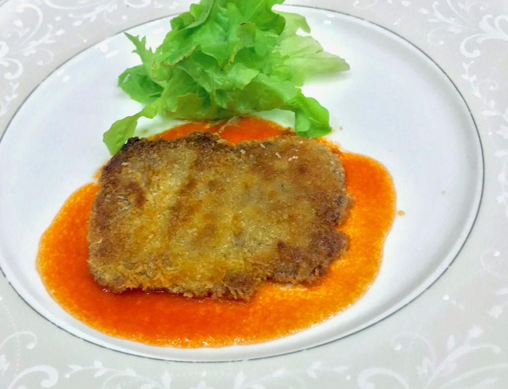 エゾシカのカツレツ トマトソース