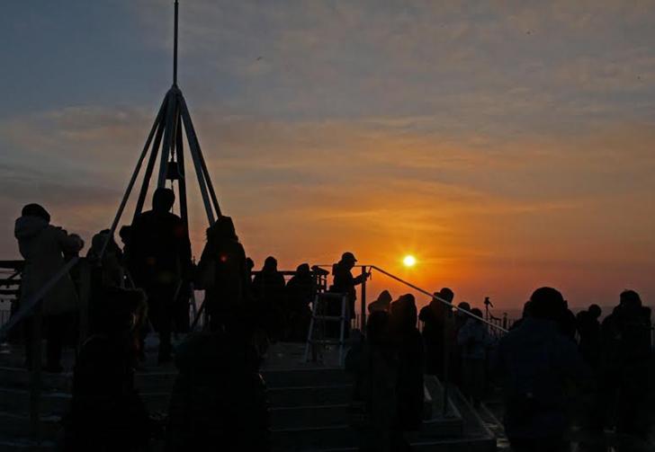 藻岩山展望台からの初日の出