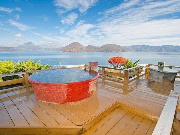 絶景の湯宿 洞爺 湖畔亭の露天風呂