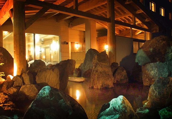 サロマ湖鶴雅リゾートの露天風呂