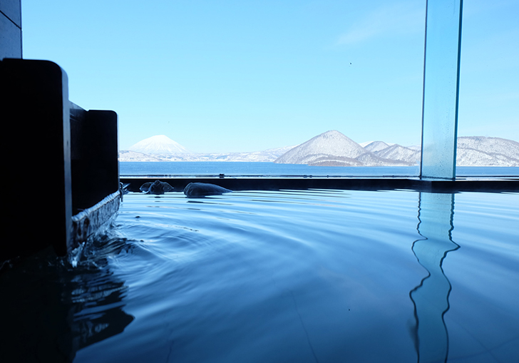 最上階9階からの眺望がすばらしい乃の風リゾートの貸切風呂