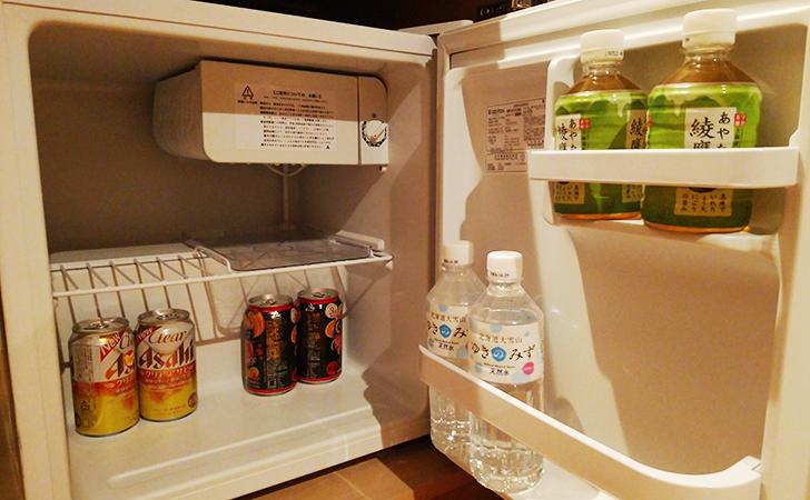 冷蔵庫内のフリードリンク