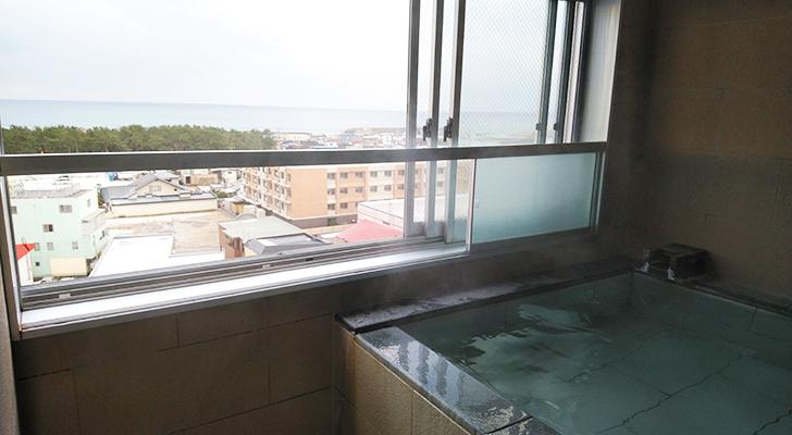 展望風呂と眺望