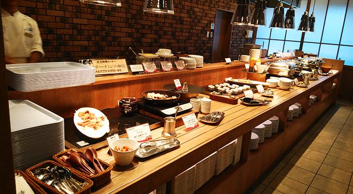 朝食バイキングの料理たち