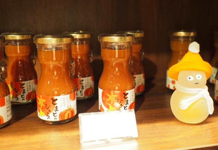 自社農園の野菜で作ったジュースが人気商品。
