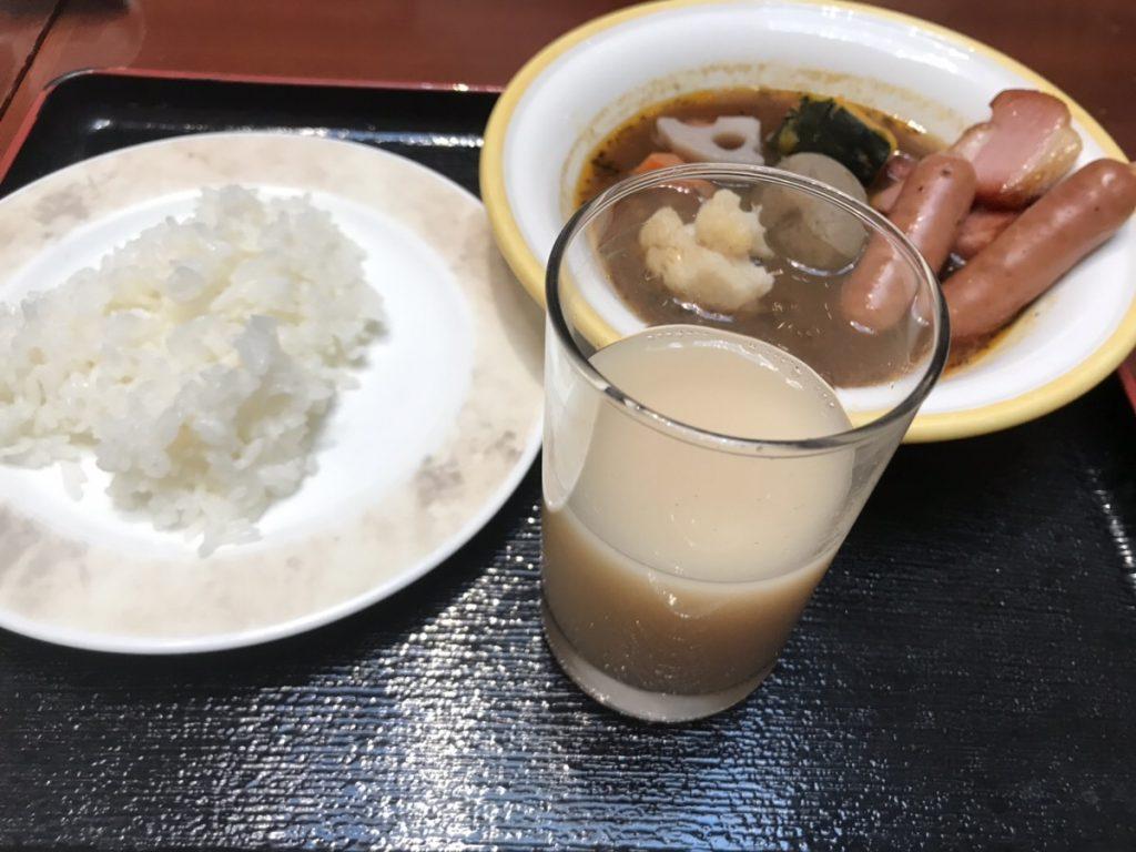 朝食のスープカレー