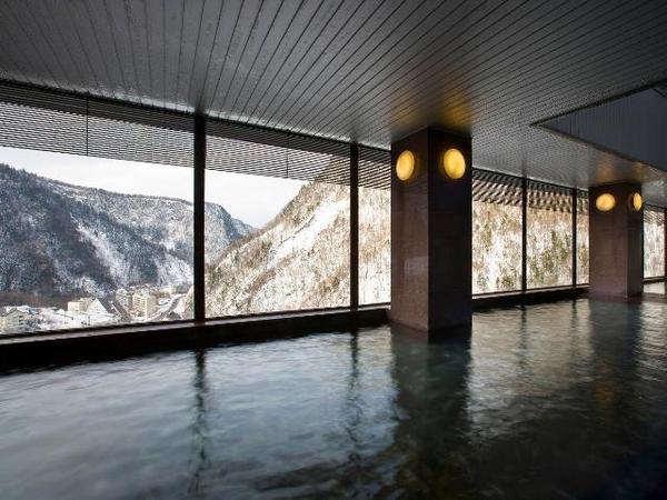 層雲峡 朝陽亭の大浴場