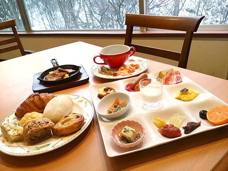朝食ブッフェの一例