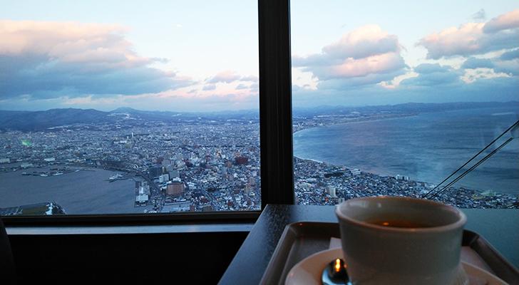 函館山ティーラウンジからの眺め