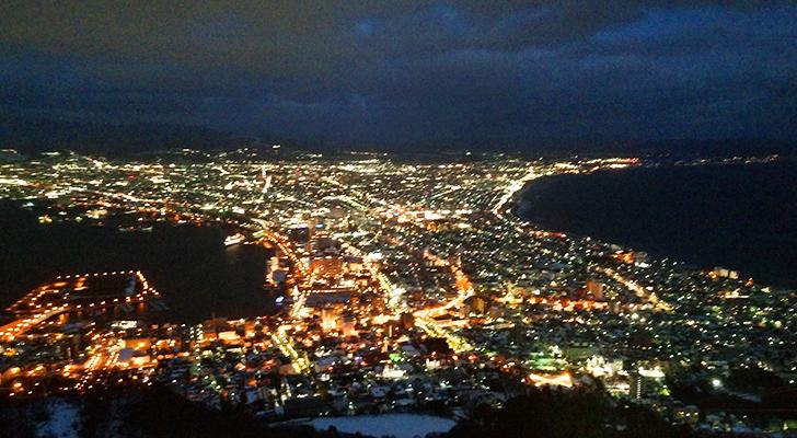 函館山展望台から見た函館の夜景