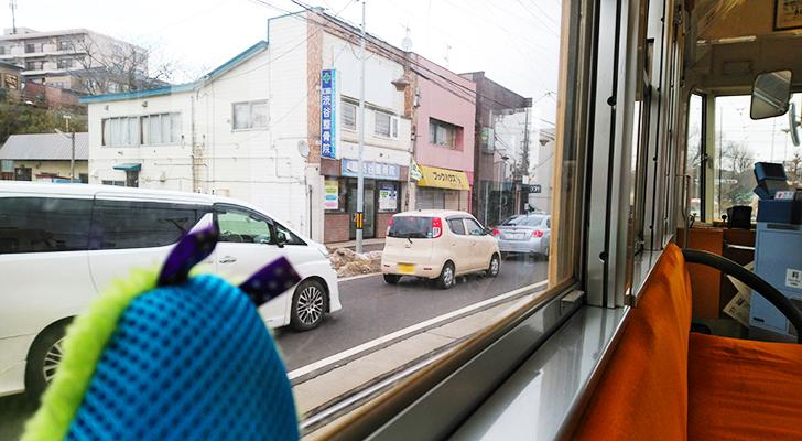 市電の車窓