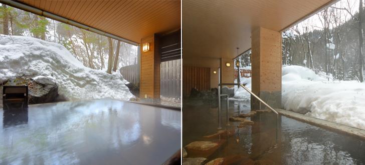 冬の温泉露天風呂