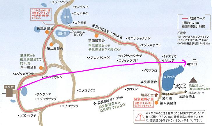 お散歩MAP 冬はショートカットが可能です