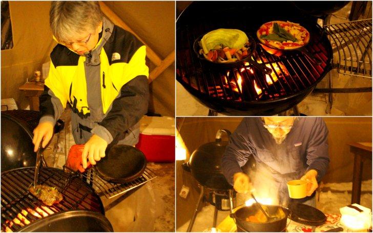 バーベキューグルメで自ら調理する男二人