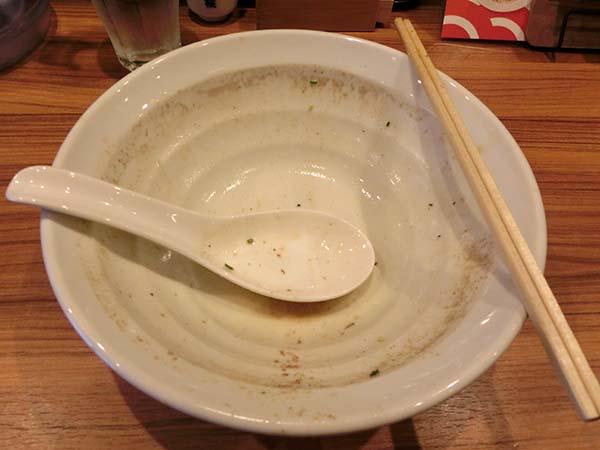 完食した後の丼