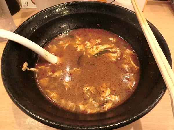 麺を完食した丼