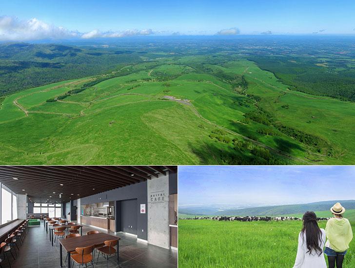 十勝北部、ナイタイ牧場からの眺望とタイタイテラス
