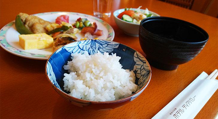 東川米がおいしい朝ごはん