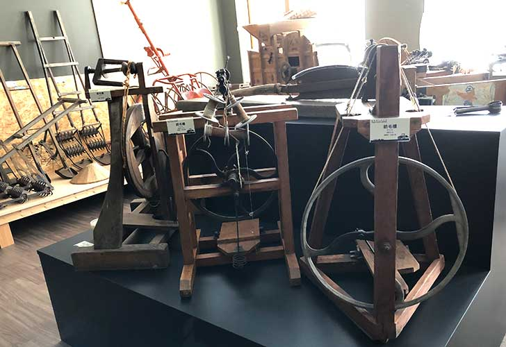 洞爺郷土資料室2階の紡毛機