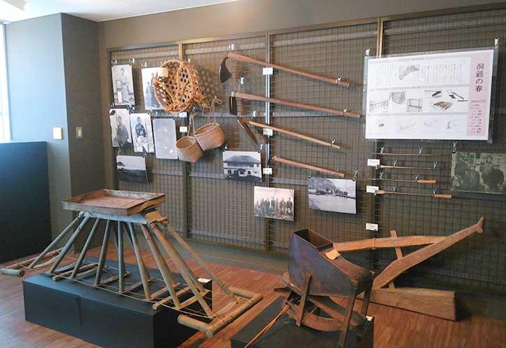 洞爺郷土資料室1階には洞爺の春夏秋冬を展示