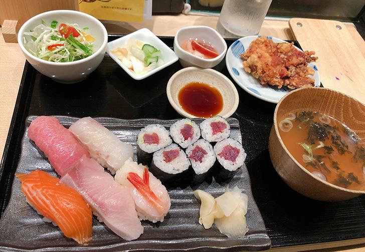 福禄寿の季節の握り寿司御膳