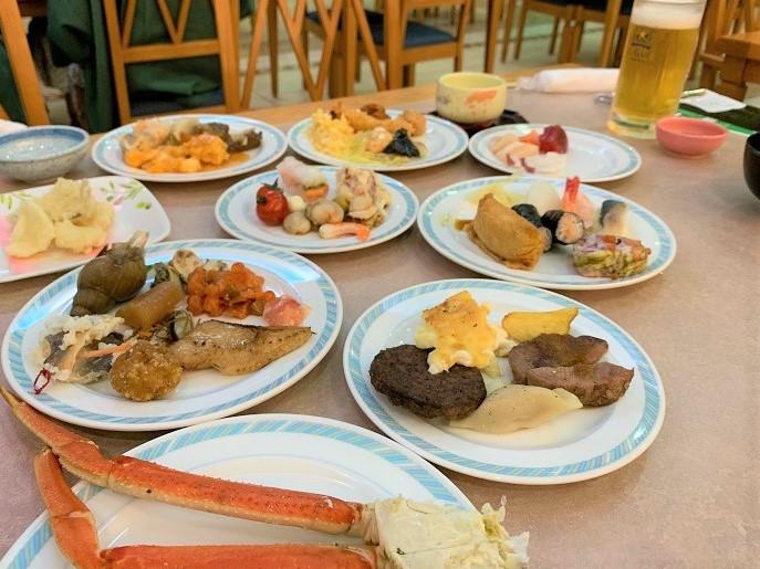 知床第一ホテル夕食の写真