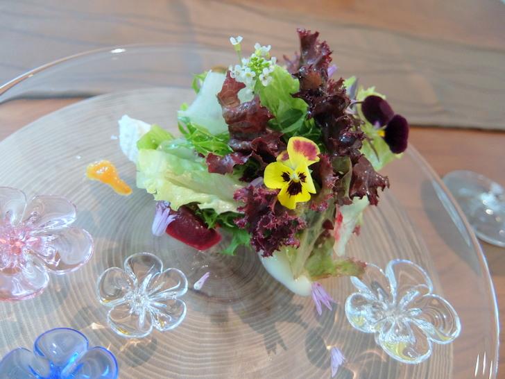 摘みたて野菜のサラダ