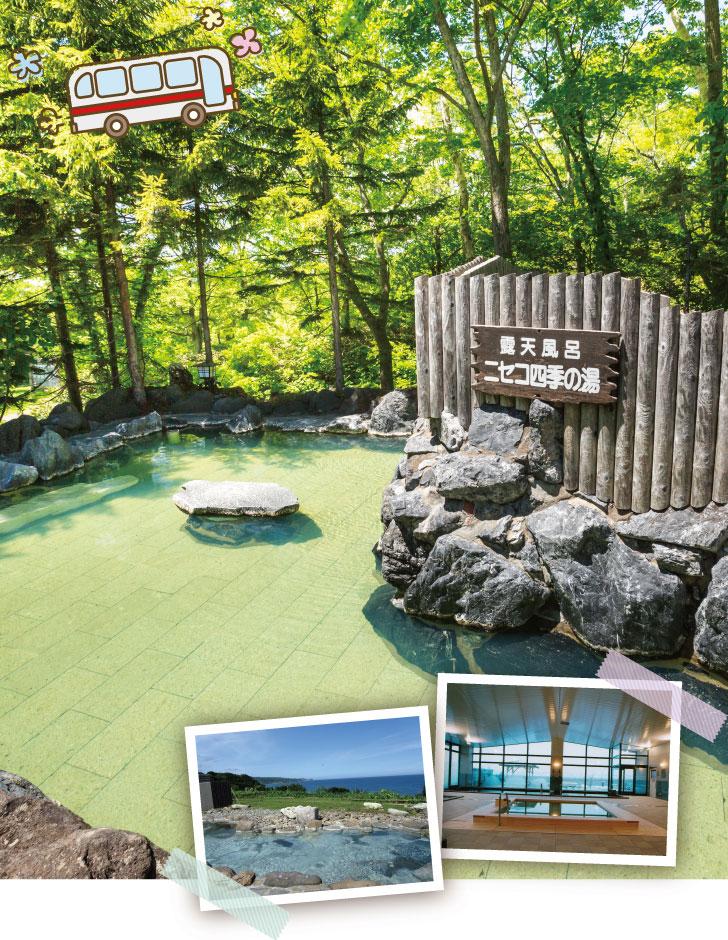 ニセコ温泉郷いこいの湯宿の露天風呂ニセコ四季の湯