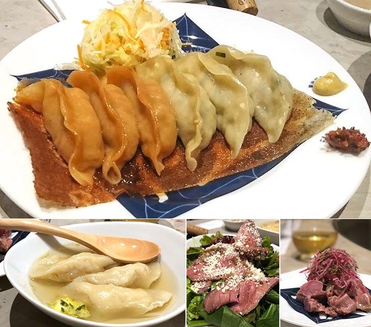 豚、牛各3個、帆立の水餃子、お酒によく合う一品料理も充実♪