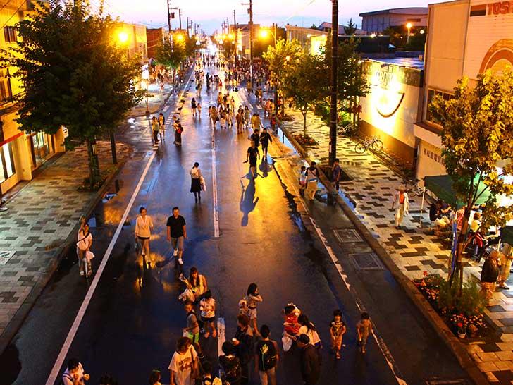夕やけ市の写真