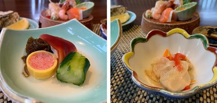 オホーツクの旬魚介を使った前菜