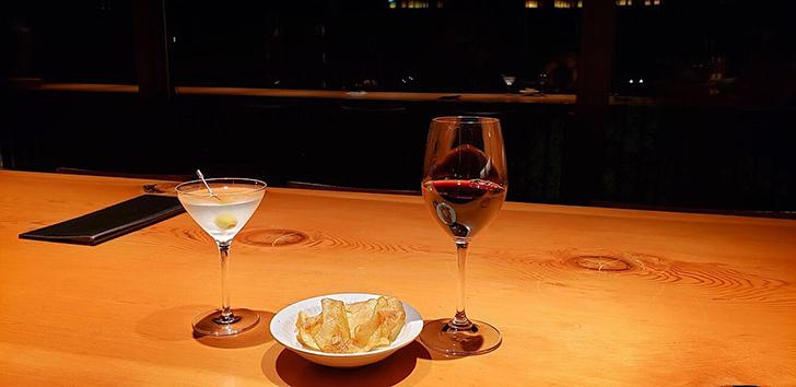 マティーニとワイン