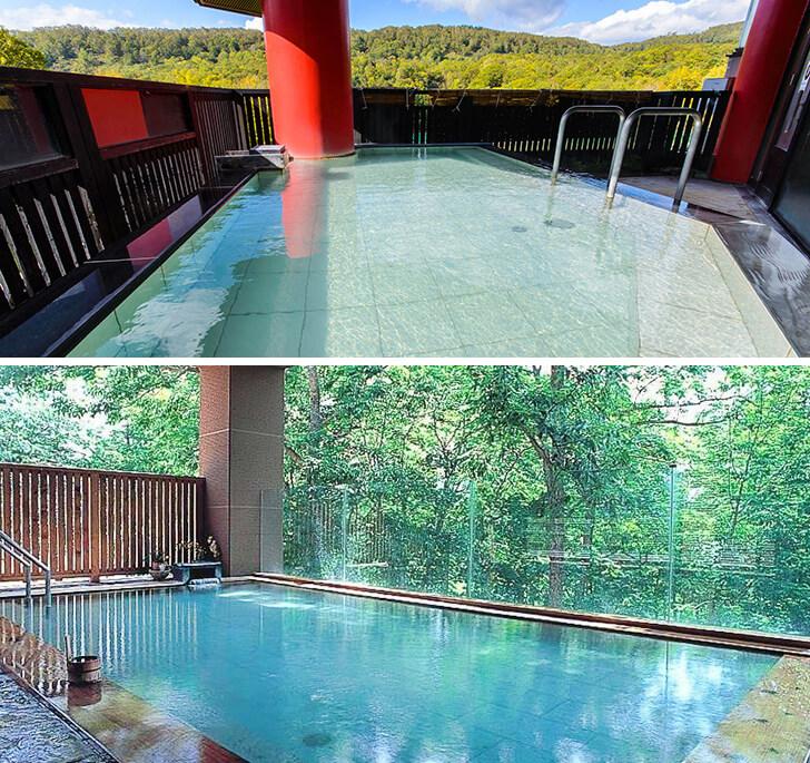 開放的な大浴場と露天風呂