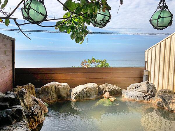 津軽海峡を一望できる漁火館の露天風呂