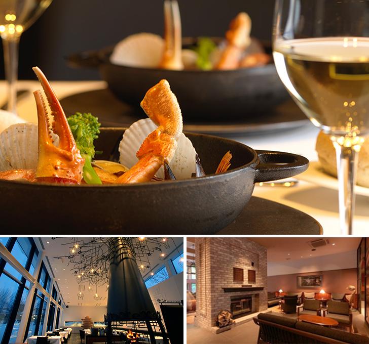 函館大沼 鶴雅リゾート エプイの夕食とレストランとロビーラウンジ