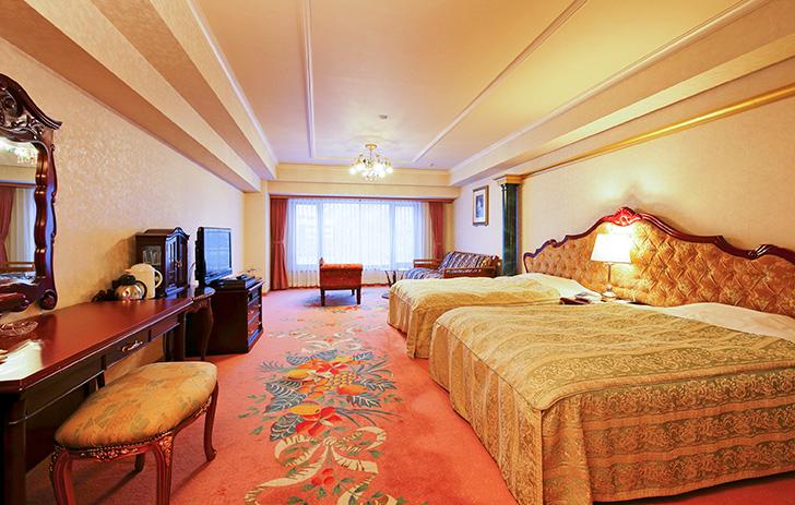定山渓ビューホテルの広い新館洋室