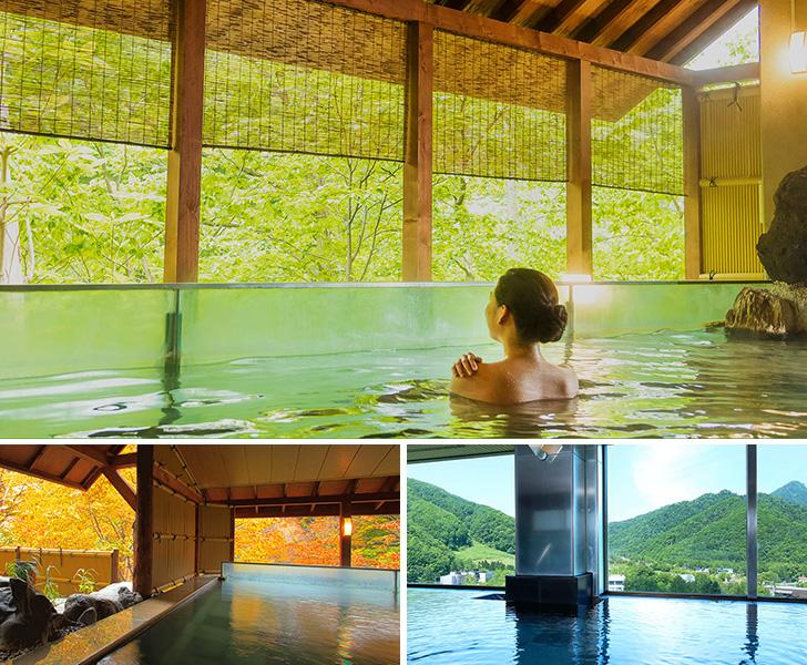 定山渓ビューホテルの温泉や露天風呂