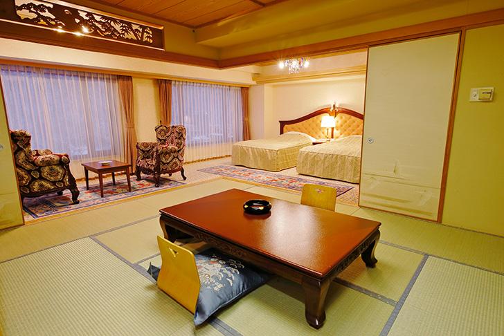 定山渓ビューホテルの新館和洋室