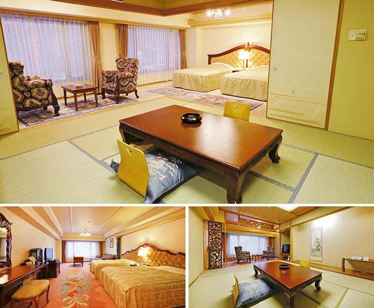 定山渓ビューホテルの新館客室