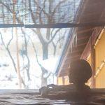 定山渓ビューホテル、冬の露天風呂