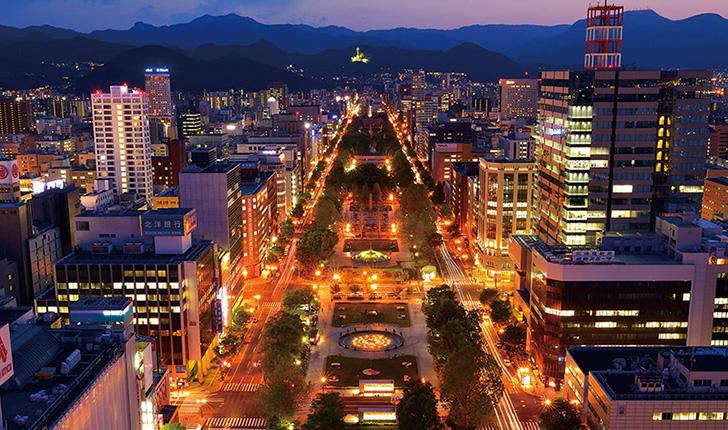地上90mから眺める札幌の夜景