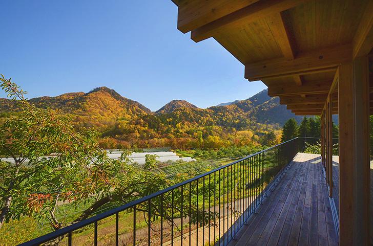 紅葉のオーチャード(果樹園)ガーデン、定山渓ファーム
