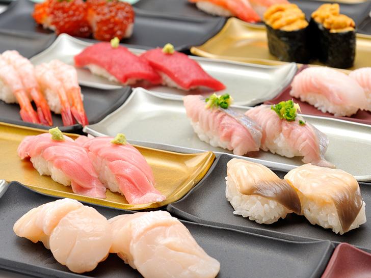 地元民にも好評の花まるのお寿司
