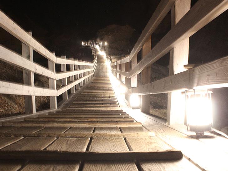 登別地獄谷ライトアップ