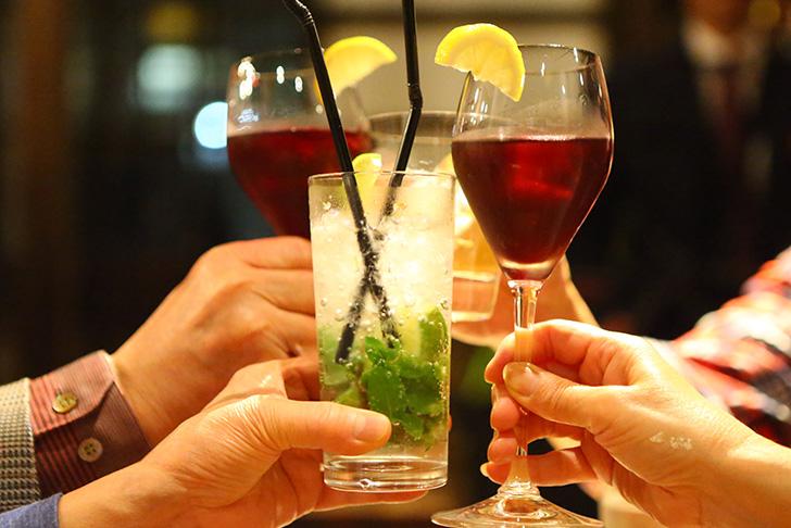 おいしいお酒で乾杯