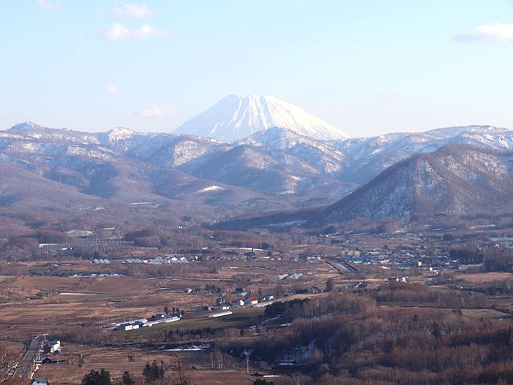 赤井川村の雄大な風景