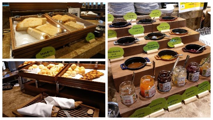 センチュリーマリーナ函館 朝食バイキングのパンコーナー