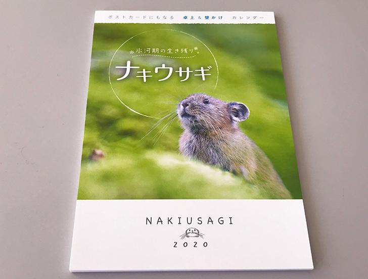 ナキウサギのカレンダーの表紙